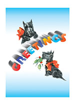 Christmas Greetings from Two Scottie Dogs (Many More Christmas Greeting Cards)