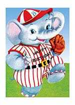 Happy Birthday Baseball Elephant (Birthday Greeting Cards)