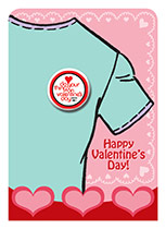 Valentine's Day Button - Do You're Thing On Valentine's Day (with me!)