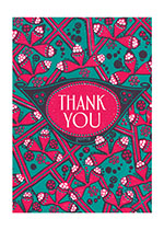 Floral Thank You (Thank You Greeting Cards)