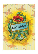 Art Deco Best Wishes (Friendship Greeting Cards)
