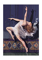 A Woman Dancing in Classical Drapery (Celebration Greeting Cards)