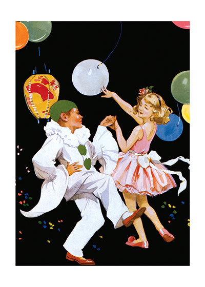 Children Dancing at a Masquerade Ball (Celebration Art Prints)