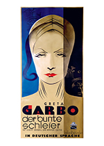 Garbo: The Painted Veil (Retro Movie Posters Performing Arts Greeting Cards)