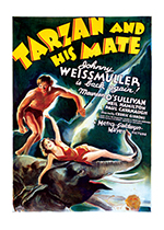 Tarzan and His Mate (Retro Movie Posters Performing Arts Art Prints)