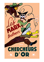 The Marx Brothers: Go West (Retro Movie Posters Performing Arts Greeting Cards)
