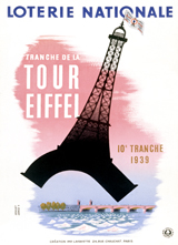 La Tour Eiffel (European Glamor Travel Art Prints)