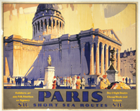 Paris - Short Sea Routes (European Glamor Travel Greeting Cards)
