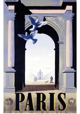Arc de Triomphe (European Glamor Travel Art Prints)