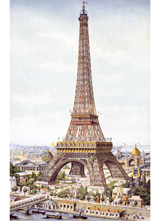 The Eiffel Tower (European Glamor Travel Art Prints)