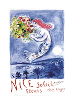 Nice Soleil Fleurs (European Glamor Travel Greeting Cards)