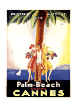 Palm Beach Casino Cannes (European Glamor Travel Art Prints)