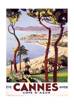 Cannes Cote d'Azur (European Glamor Travel Art Prints)