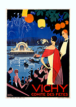 Vichy Comite des Fites (European Glamor Travel Art Prints)