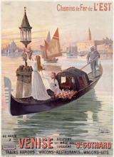 Women in a Gondola (European Glamor Travel Greeting Cards)
