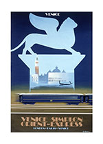 Venice Simplon Orient Express (European Glamor Travel Art Prints)