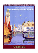 Vintage Venice (European Glamor Travel Art Prints)