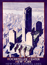 Rockefeller Center (Americana Travel Greeting Cards)