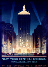 New York at Night (Americana Travel Art Prints)