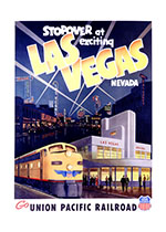 Exciting Las Vegas (Americana Travel Art Prints)