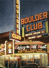 The Boulder Club - Las Vegas (Americana Travel Art Prints)