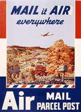 Mail it Air Everywhere (Americana Travel Art Prints)