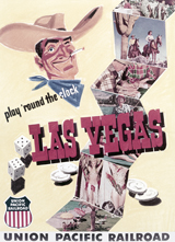 Gambling Las Vegas Cowboy (Americana Travel Art Prints)