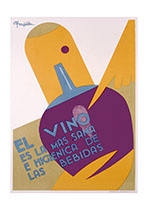 El Vino Es La Mas Sana (Wine and Spirits Art Prints)