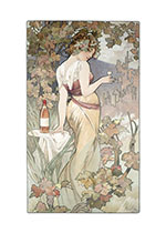 Lady With Pink Wine (Wine and Spirits Greeting Cards)
