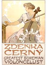 Zdenka Cerny Cellist (Classical Music Performing Arts Art Prints)