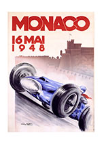 Monaco Grand Prix 1948 (Transportation Travel Art Prints)