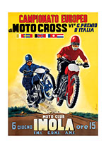 Italian Motocross Poster (Transportation Travel Art Prints)