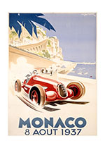 Monaco Grand Prix 1937 (By Land Transportation Greeting Cards)