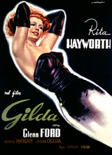 Rita Hayworth: Gilda (Retro Movie Posters Performing Arts Greeting Cards)