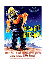 Forbidden Planet (Retro Movie Posters Performing Arts Art Prints)