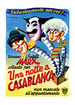 The Marx Brothers: A Night in Casablanca (Retro Movie Posters Performing Arts Greeting Cards)
