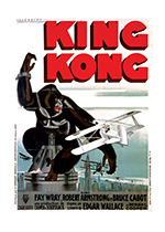 King Kong (Retro Movie Posters Performing Arts Art Prints)