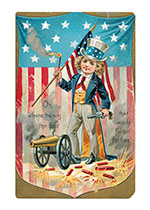 Boy With Cannon (Classic 4th of July Greeting Cards)