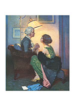 A Conversation By Lamplight (Mother's Day Greeting Cards)