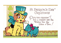 A Dog with Pipe and Hat (St. Patrick's Day Greeting Cards)