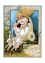 Bunny Carriage Easter (Easter Greeting Cards)
