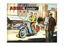 Ariel Motorcycles (By Land Transportation Greeting Cards)
