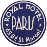 Royal Hotel Paris (European Glamor Travel Art Prints)