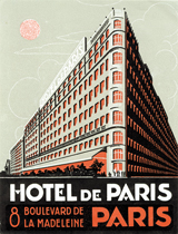 Hotel de Paris (European Glamor Travel Art Prints)
