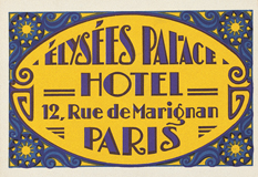 Palace Hotel Label (European Glamor Travel Art Prints)