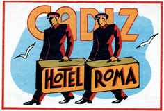 Cadiz Hotel Roma (European Glamor Travel Greeting Cards)