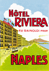 Hotel Riviera Naples (European Glamor Travel Art Prints)