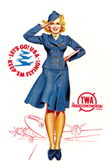 Flight Attendant (Transportation Travel Art Prints)