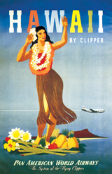 Hula Dancer (Americana Travel Art Prints)