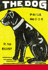 The Dog (Matchbox Labels Graphic Design Art Prints)